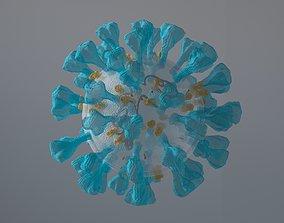 animated Corona Virus 3d