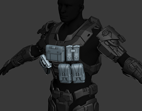Modular Reach Tactical Recon Chestplate Wearable 3D Print