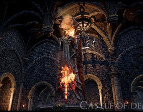 Demon Castle Labyrinth UE4 project 3D asset