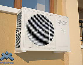 3D asset low-poly Low Poly Air Conditioner