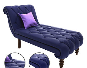 3D print model Soapstone Curves Tufted Chaise Lounge