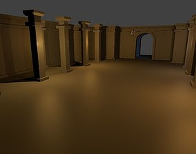 Low-Poly walls for procedurally generated 3D asset