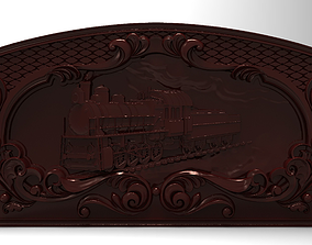 3D printable model Steam locomotive Bas relief for CNC