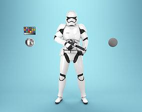 StormTrooper First Order Rigged 3D model
