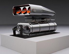 Supercharger type B 3D asset