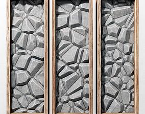 Stone wall frame 3D plaster