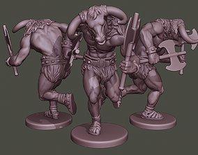 3D printable model Minotaur Warrior Running two Axes