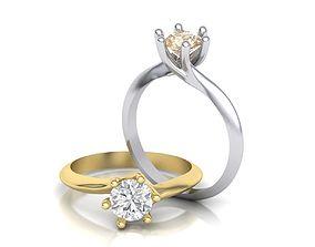 Engagement ring 6 prong 3D print model