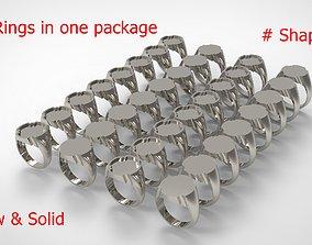 Signet Men Ring Pack No 20 3D print model
