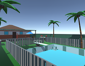 Low Poly Pool Party Pack 3D asset