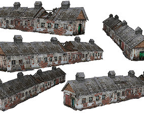 2Models Old house Kolkhoz 01-02 03 3D asset