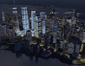 Manhattan Night 3D asset