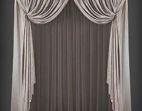 VR / AR ready Curtain 3D model 247
