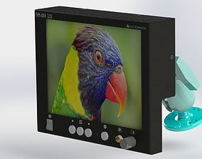monitor 3D model LCD Monitor Aviation shockproof