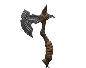 3D model ANCIENT AXE GAMERADY LOW POLY AXE