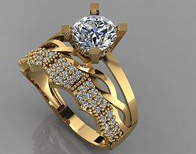 3D print model GC GOLD TW0132- Diamond ring