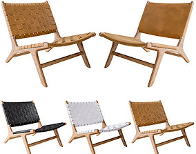 3D Flat Leather and Leather Marlboro Chairs