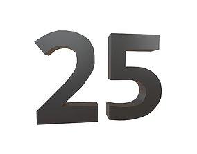 3D model Date Number 25 v1 001
