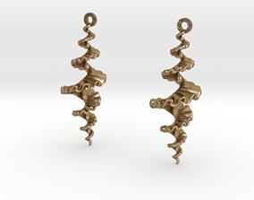 Fractal Spiral Earrings 3D print model