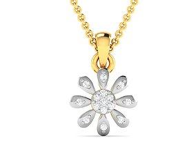 Women pendant 3dm render detail diamond precious