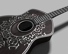 3D model musical Custom 6-string Guitar