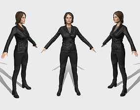 Low poly Female - Survival Character 3D model