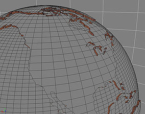Earth 3D Model Globe illustration game-ready