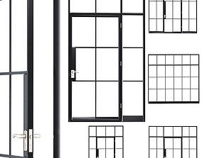 Steel door set 1 3D model
