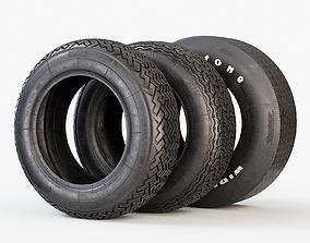 3D model Classic Car Tyres
