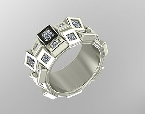 3D printable model Set ring with diamonds