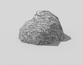 3D model low poly rock
