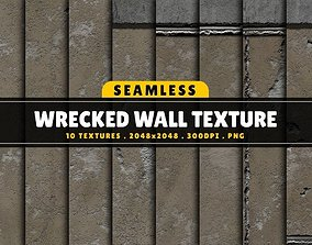 3D model Texture Pack Seamless Wrecked Wall Vol 01