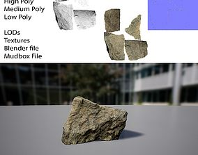 Photogrammetry Rock 1 3D asset
