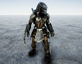 Predator Combat Animated 3D asset