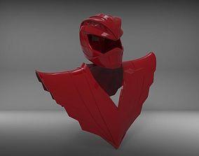 3D print model Ryu Ranger helmet chestplate street 2