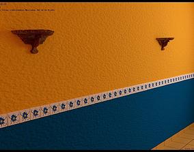 Interior de casa tipica Mexicana 3D model