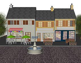 houses village 3D model