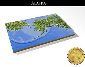 Alaska High resolution 3D relief maps