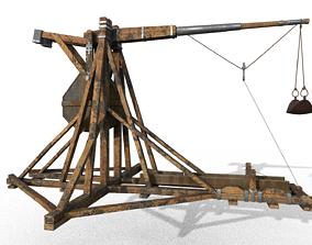 Trebuchet 3D model realtime