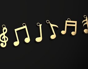 3D printable model melody pendant