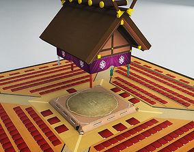 3d Sumo dojo arena stadium ring 3D model