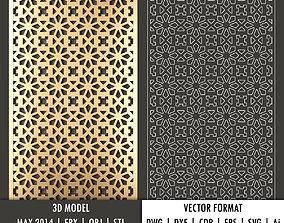 Geometric decorative panel 122 3d model and vector format