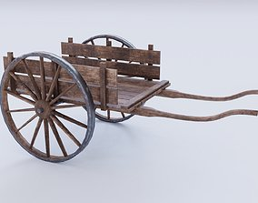 3D asset Dirty farm cart PBR