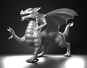 monster Welsh Dragon Statue - 3D Printable