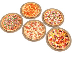 3D model 5 Pizza pack
