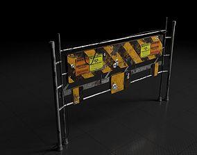 3D model Quarantine zone barrage