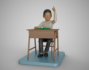 3D printable model Boy Lift Finger Up
