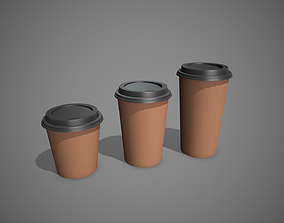 Plastic Paper Coffee Cup 3D model