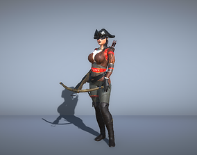 3D Pirate female with a crossbow