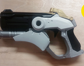 3D printable Overwatch Mercy Gun snap assembly with 2